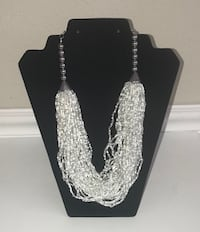 New silver-tone and White Beads Necklace just $5 Port Saint Lucie, 34953