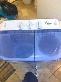 white and blue front load washer Albuquerque, 87121