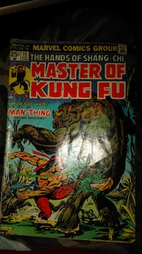Marvel Comics Group Master of Kung Fu comic book Canonsburg