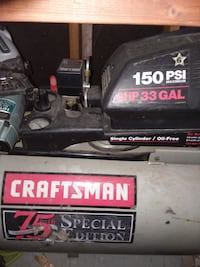 Craftsman 75th Special Edition 6hp 33gal air compressor w/ nailers and hoses DESMOINES