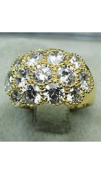 Beautiful 18k Gold Filled Ring With Clear CZ Size 5 Nashville