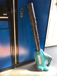 black and blue Makita leaf blower