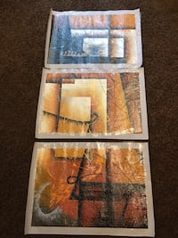 3 NEW unframed canvas prints - 25x17 each Sioux Falls, 57103