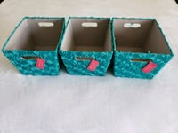 3 teal turquoise gray rose floral tapered storage  Ewa Beach, 96706