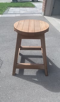 Cedar bar/ pool stool x2