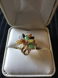Gold-colored multi-colored encrusted ring Arroyo Grande, 93420