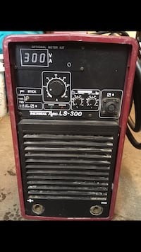 black and red LS-300 welding machine