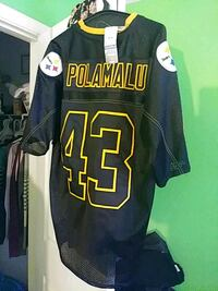 black and yellow Pittsburgh Steelers Polamalu 43 jersey Fountain Inn, 29644