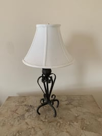 White and gray table lamp