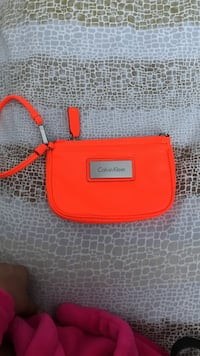 Orange Calvin Klein leather wristlet Victoria, V8Z 7A4