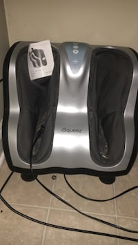 black and gray thigh massager