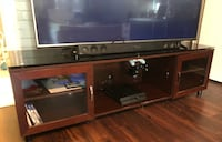 Black and gray tv stand Augusta, 30907