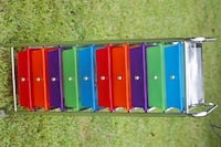 blue, red, and yellow plastic organizer null