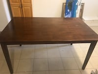 """Wood table(59"""" by 36"""")with 6 chairs in good condition  Richmond Hill, L4C 5L3"""