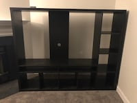black wooden cubby shelf with shelf Centreville, 20120