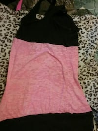 pink and black sleeveless top Pine Mountain Valley, 31823