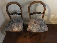 brown wooden frame white and pink floral padded armchair Calgary, T3E 6X1