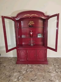 Red Lucky China Cabinet(price negotiable)