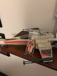 Star Wars X-wing fighter Kenner w/pilot