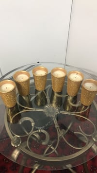 Gold glitter candles, all 5 for $10 Ottawa