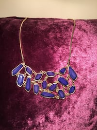 Blue and gold coloured necklace by Joe Fresh Toronto, M9W 1Z2