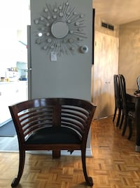 2 Modern Antique chairs with 100 % leather in good condition very strong  Mississauga, L4W