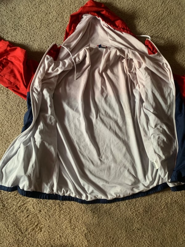 Red and blue windbreaker  2