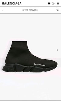 BRAND NEW BALENCIAGA SPEED TRAINERSBLACK ON BLACK Toronto