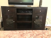 brown wooden TV stand with flat screen television Smithtown, 11787