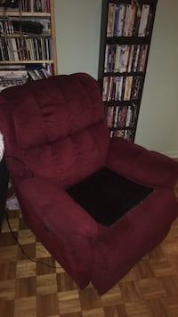 Red fabric padded sofa chair Boisbriand, J7G 1G7