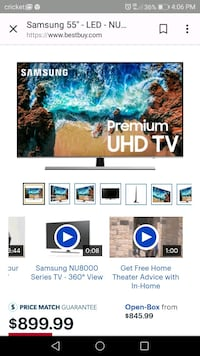 Samsung 4k ultra HD smart tv Youngstown, 44514
