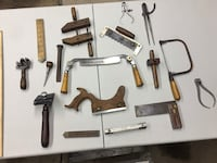 Old vintage carpentry tools in mint condition