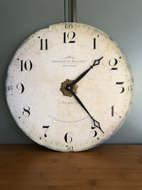 """16"""" French Wall Clock - battery not included - excellent condition"""