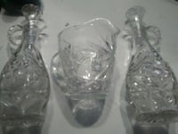 Vintage vinegar and oil cruet bottles.  Denver, 80210