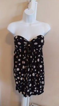 Black and white polka-dots sweetheart blouse Fresno, 93727