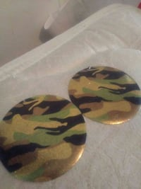 green, beige and black camouflage decorative plates Hagerstown, 21740