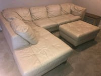 Cream Leather Sectional Sofa Baltimore County, 21244