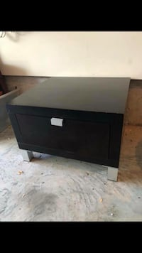 black wooden 2-drawer chest Toronto, M3C 2J7