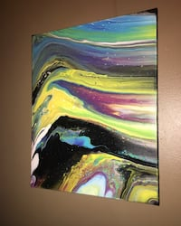blue, green, and pink abstract painting Granite City, 62040
