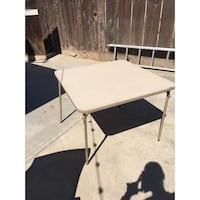 White and black wooden table Fresno, 93711