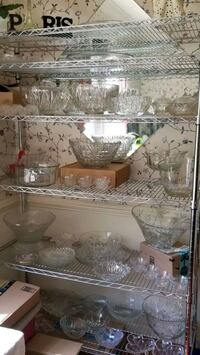 Crystal Glass Punch Bowl and Cups Set Bowie, 20715