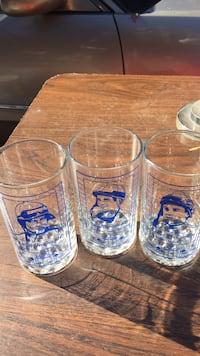 four clear glass beer mugs Los Angeles, 90046