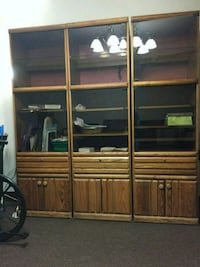 brown wooden cabinet with shelf Brooklyn, 11230