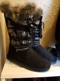 black lace up boots West Peoria, 61604