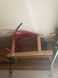Pex tubing, hot and cold.