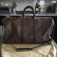 monogrammed brown and black Gucci leather tote bag New York, 10459