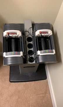PowerBlock Dumbbells and Stand