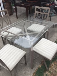 rectangular glass-top table with four chairs Spokane, 99205