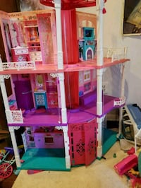 pink and purple 3-storey dollhouse Columbia, 21046