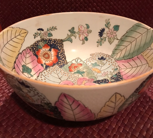 Antique Asian bowl with markings 70749857-26c7-414b-8f66-47dcf6650f7c